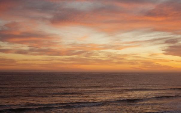 Фото обои море, волны, небо, горизонт