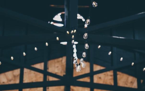 Фото обои свет, гирлянда, лампочки