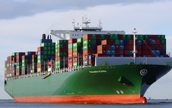 Фото обои море, судно, контейнеровоз, THALASSA ELPIDA