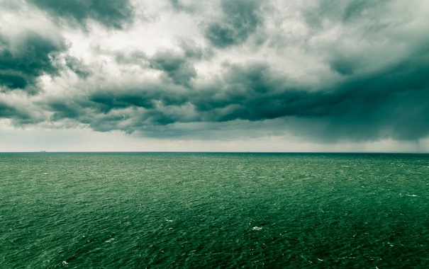 Фото обои море, небо, природа