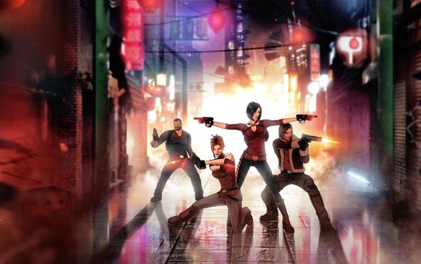 Фото обои игра, art, Hana Tsu-Vachel, Rain Qin, fear effect, Royce Glas