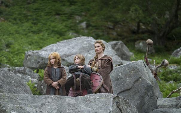 Фото обои дети, Vikings, Викинги, Alyssa Sutherland, Aslaug