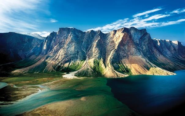 Фото обои горы, озеро, скалы, Канада, Torngat Mountains National Park