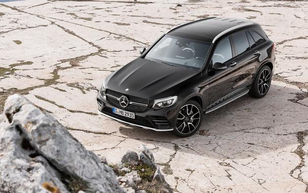 Фото обои черный, Mercedes-Benz, внедорожник, мерседес, AMG, Black, X253