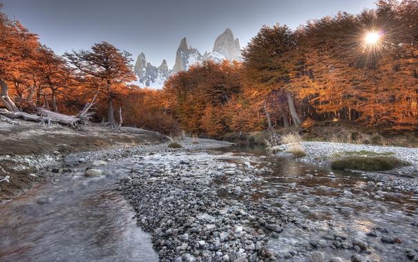 Фото обои mountains, argentina, Patagonia Fall