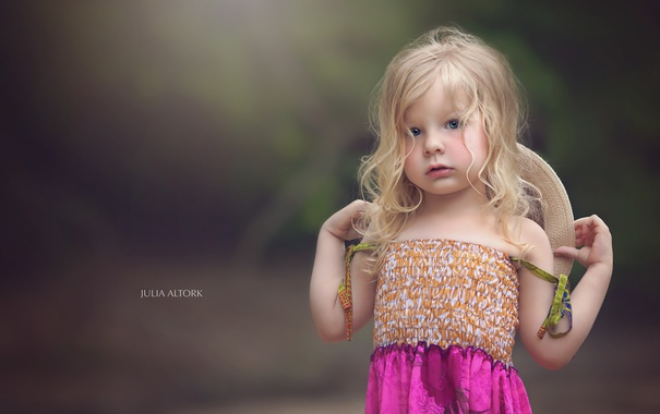 Фото обои взгляд, портрет, девочка