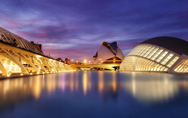 Фото обои небо, облака, вечер, освещение, синее, Испания, Spain
