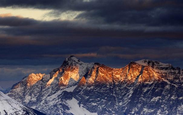 Фото обои снег, горы, Австрия, Тироль