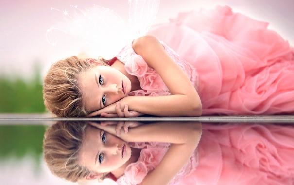Фото обои отражение, девочка, Julia Altork, Fantasy World