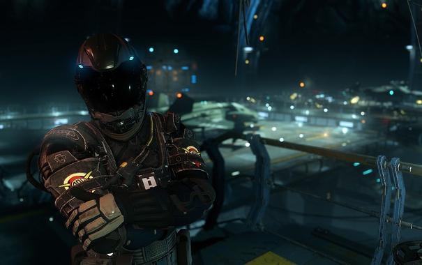 Фото обои фон, костюм, шлем, Star Citizen, Spaceman