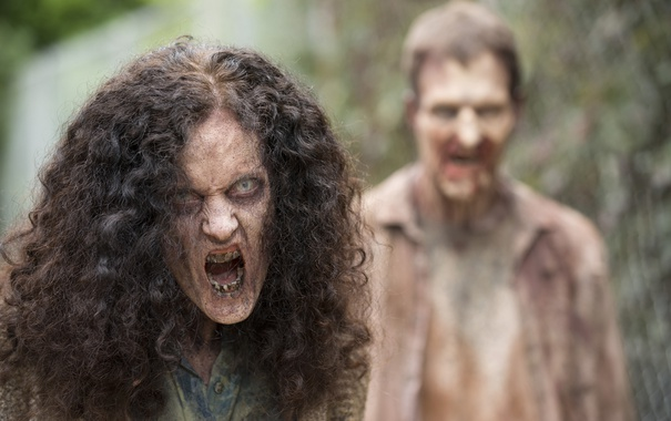 Фото обои zombies, The walking dead, grimy fabrics