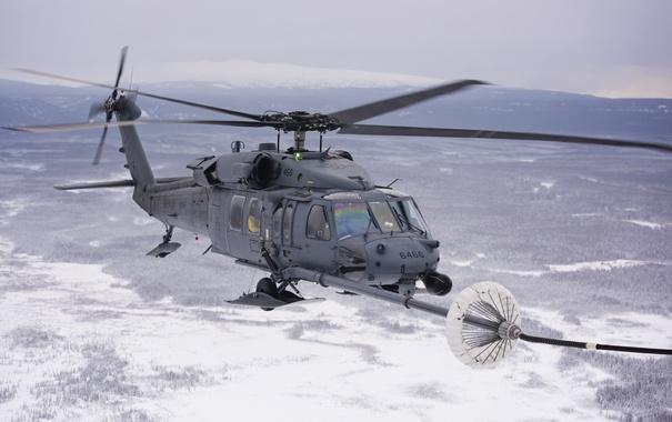 Фото обои вертолет, дозаправка, HH-60G, Pave Hawk