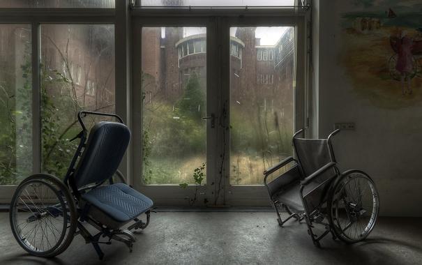 Фото обои фон, окно, коляски