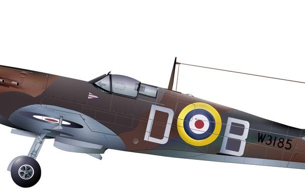 Фото обои aircraft, WW2, WWII, Douglas Bader spitfire