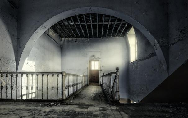 Фото обои стены, дверь, лестница