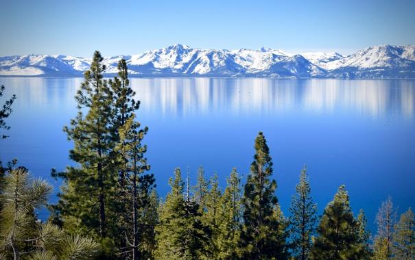Фото обои Nevada, горы, Сьерра-Невада, California, деревья, Sierra Nevada, озеро