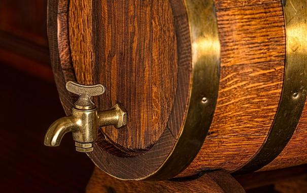 Фото обои metal, wood, beer barrel
