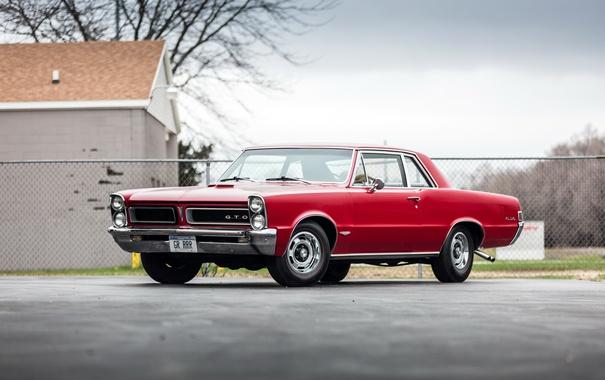 Фото обои красный, 1965, Pontiac, понтиак, Tempest, темпест