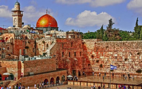 Фото обои небо, Иерусалим, Израиль, стена плача, хрАм