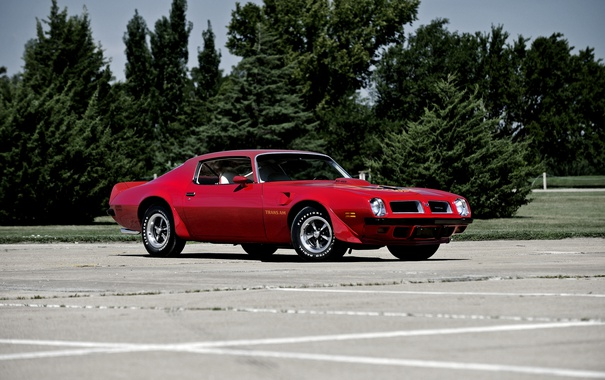 Фото обои Pontiac, понтиак, Firebird, 1974, фаерберд