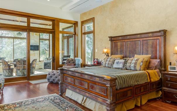 Фото обои дизайн, стиль, кровать, окно, спальня, декор