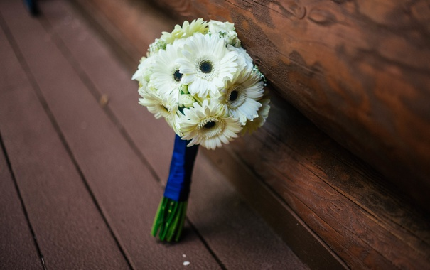 Фото обои цветы, букет, белые, свадебный