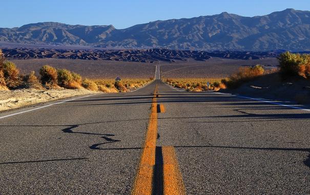 Фото обои дорога, горы, природа
