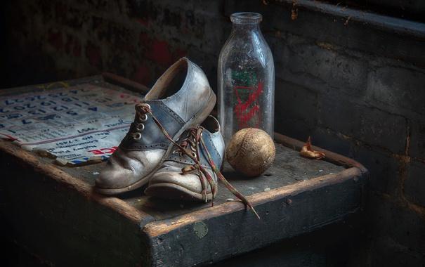 Фото обои спорт, мяч, ботинки