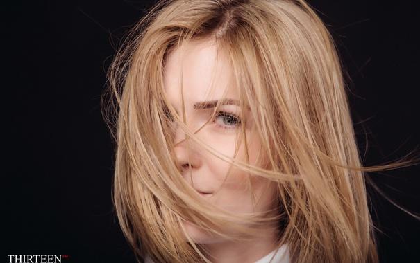 Фото обои девушка, лицо, волосы, фотограф, girl, photography, photographer