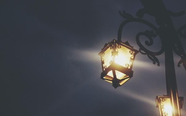 Фото обои свет, улица, фонарь