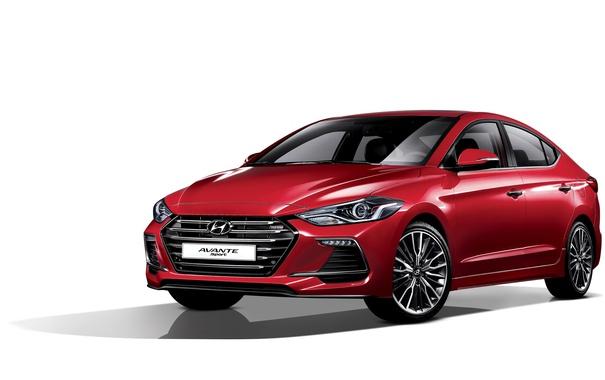 Фото обои белый фон, Hyundai, Elantra, хундай, элантра, Avante