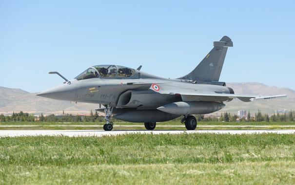 Фото обои истребитель, аэродром, многоцелевой, Dassault Rafale B