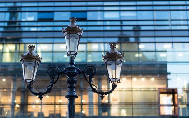 Фото обои макро, Франция, здание, фонарь, France, Lyon, Лион