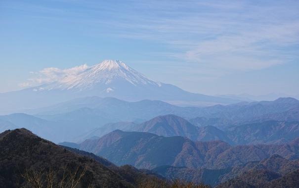 Фото обои небо, горы, холмы, гора