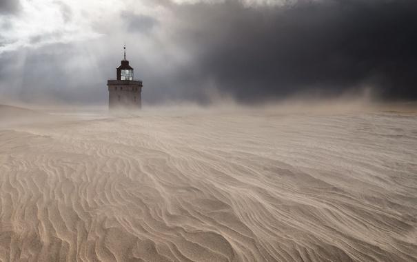 Фото обои песок, пустыня, башня