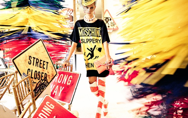 Фото обои модель, Spring, Summer, 2016, Moschino