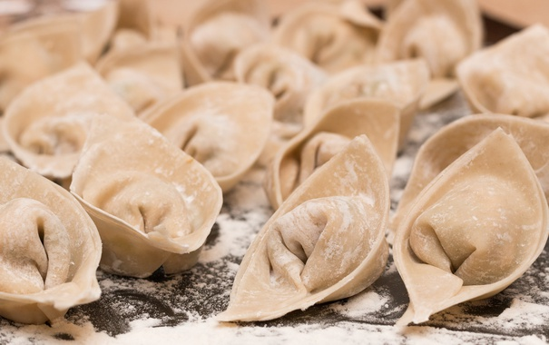 Фото обои макро, еда, Ready to Cook, Wontons