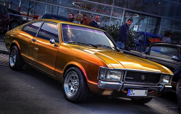 Фото обои оранжевый, ретро, hdr, форд, FORD CONSUL V6 FLIK FLAK