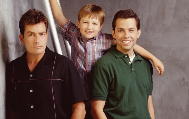 Фото обои сериал, актеры, персонажи, Чарли Шин, Джон Крайер, Джейк Харпер, Чарли Харпер
