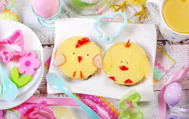 Фото обои цветы, яйца, весна, Пасха, flowers, spring, Easter