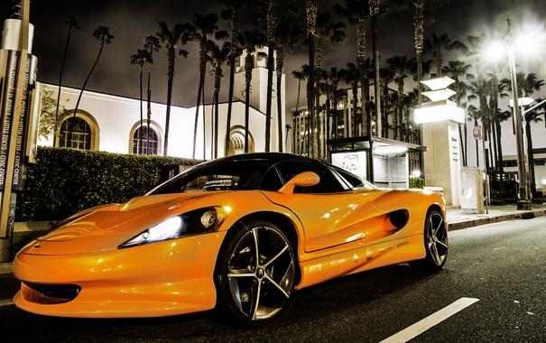 Фото обои Concept, оранжевый, город, концепт, суперкар, Vision, SZR