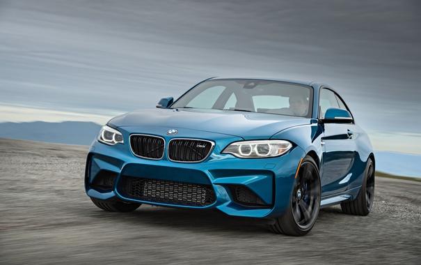 Фото обои F87, синяя, Coupe, BMW, бмв, купе