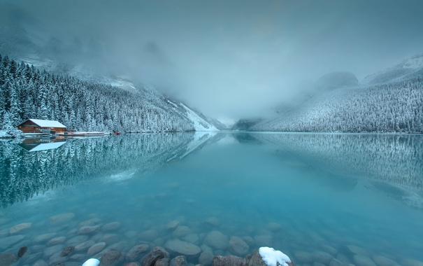 Фото обои Early Morning, Lake Louise, Light