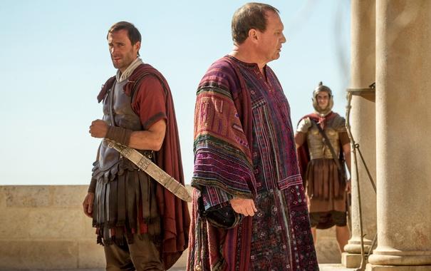 Фото обои меч, Risen, Clavius, Joseph Fiennes, Воскресение Христа, Peter Firth, Pilate
