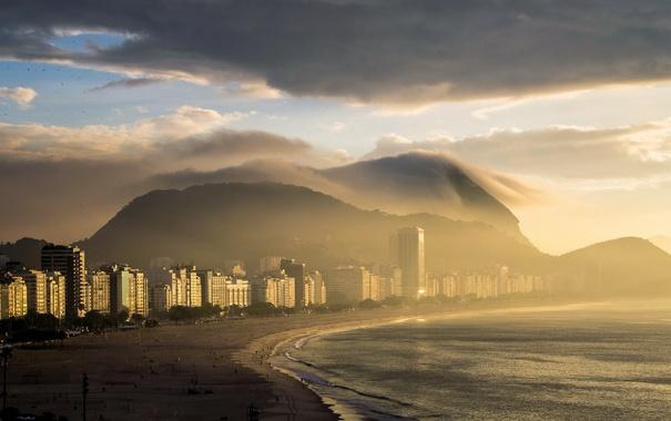 Фото обои море, утро, Rio de Janeiro
