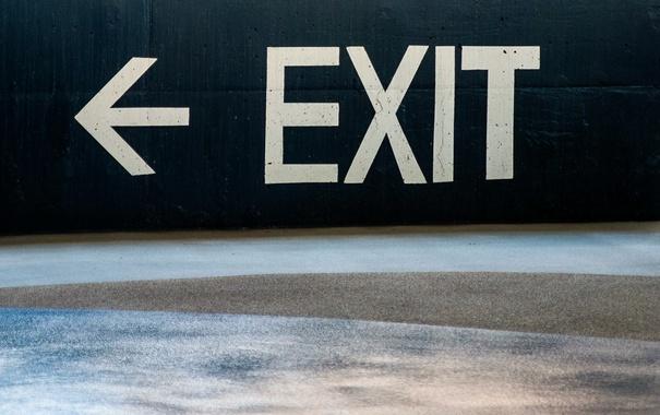 Фото обои знак, выход, Exit