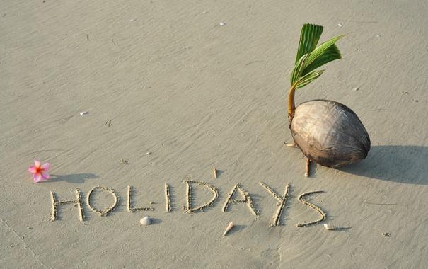 Фото обои песок, пляж, beach, sand, tropical