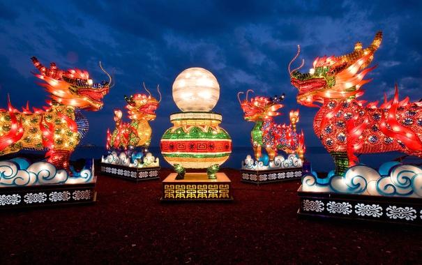 Фото обои Канада, Онтарио, Торонто, Китайский Фестиваль фонарей