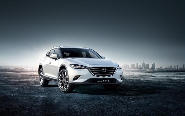 Фото обои белая, Mazda, мазда, кроссовер, CX-4