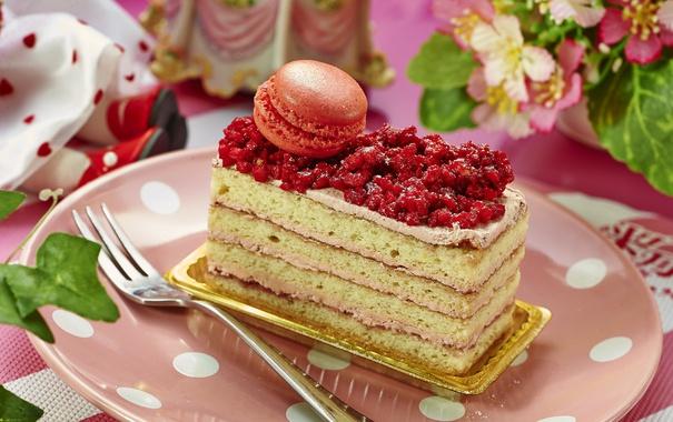 Фото обои торт, слои, десерт, макурун